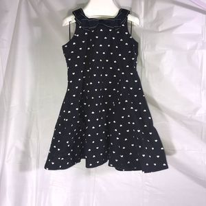 Gymboree Dress 3T Black with White Hearts